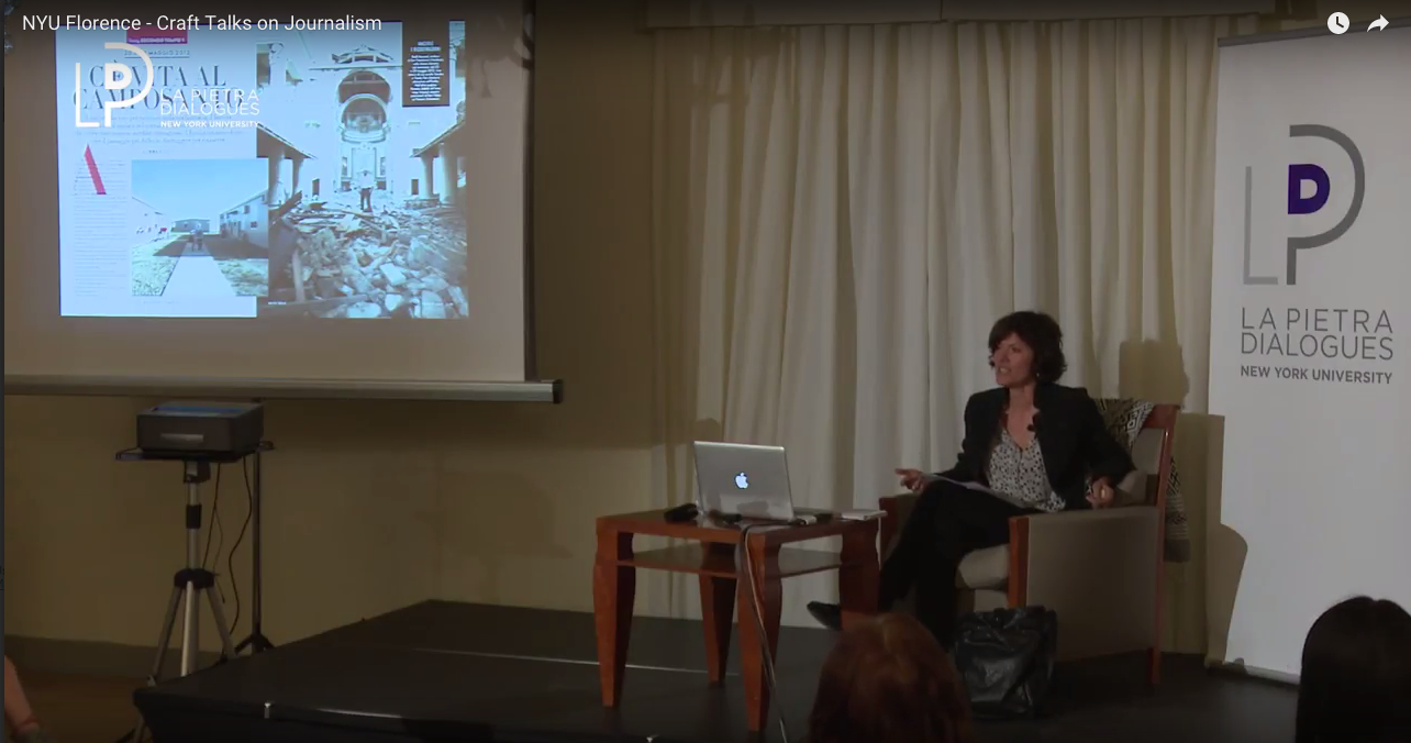 author and journalist imma vitelli graced the nyu florence campus with her presence for her second dialogue of the semester the craft of the interview